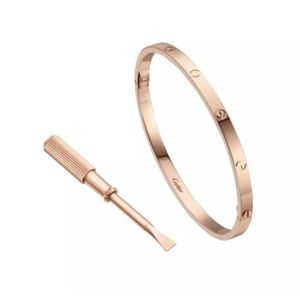 Cartier Jewelry - Authentic Cartier Rose Gold Screw SM Love Bracelet